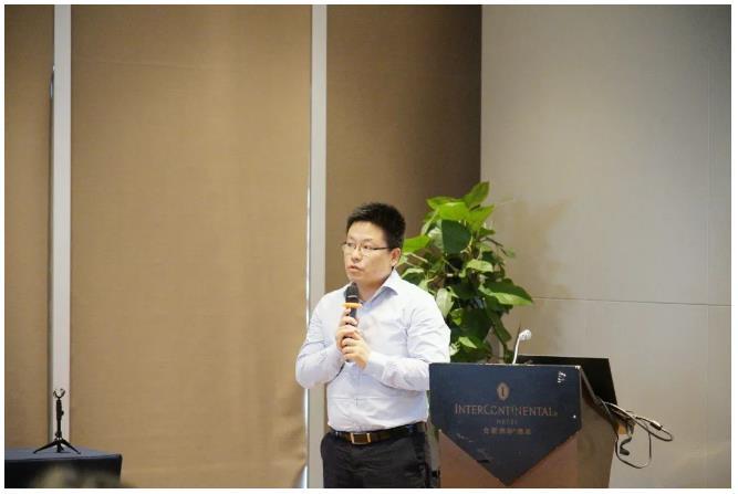 紫光旗下新华三集团安徽代表处总经理盛剑晖致辞